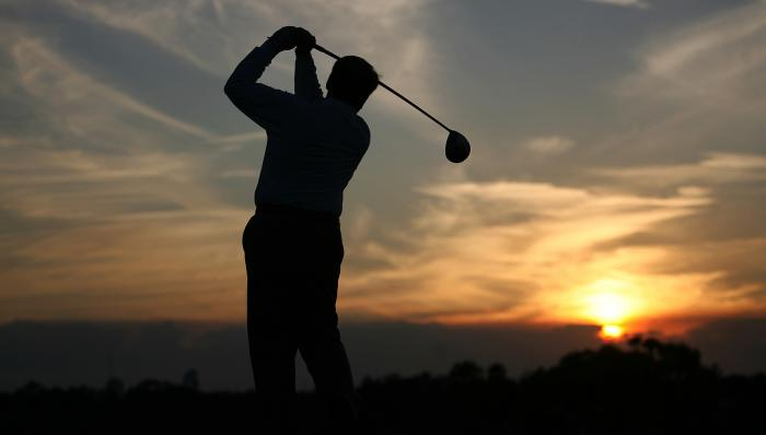 Golfer at Sunrise Motivational Posters