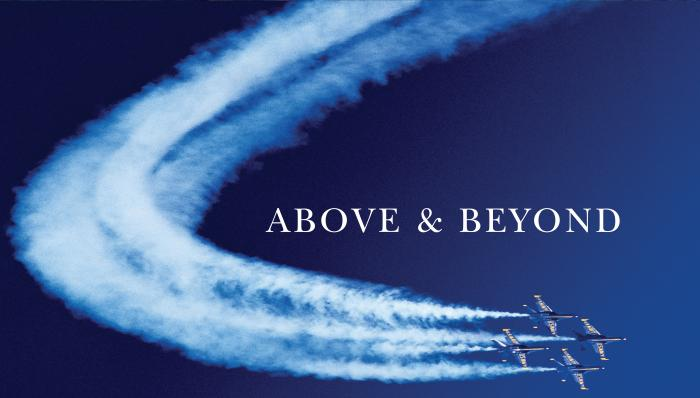 Above & Beyond Jets with Text Motivational Posters