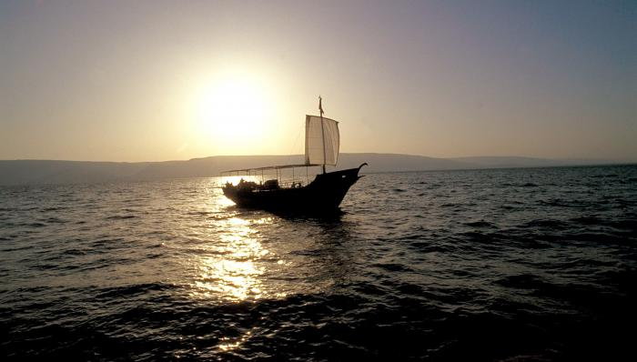 Boat On The Sea Of Galilee Motivational Posters