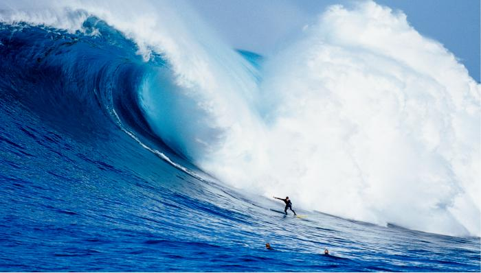 Surfer and Massive Wave Motivational Posters