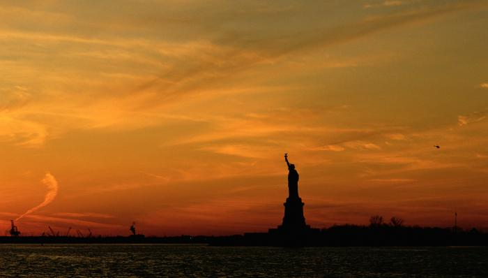 Statue of Liberty at Sunset Motivational Posters