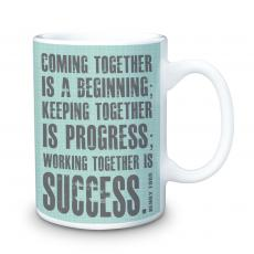 Ceramic Mugs - Working Together 15oz Ceramic Mug
