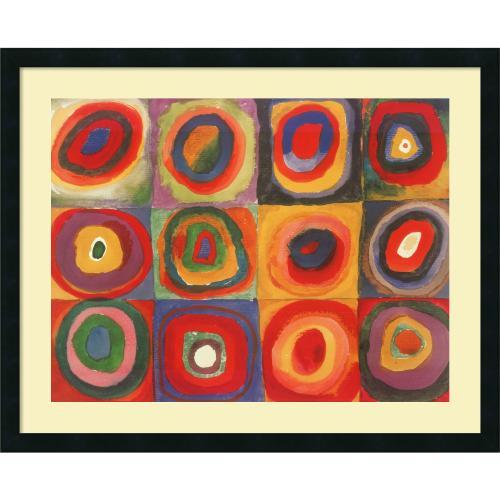 Wassily Kandinsky Farbstudie Quadrate, 1913 Office Art