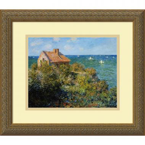 Claude Monet Fisherman's Cottage on the Cliffs at Varengeville, 1882 Office Art