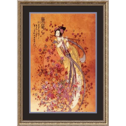 Chinese Goddess of Prosperity Office Art