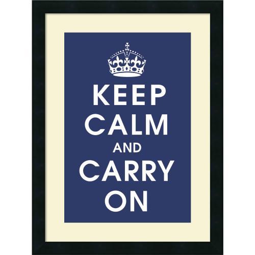 Vintage Repro Keep Calm (navy) Office Art