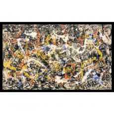 Abstract - Jackson Pollock Convergence Office Art
