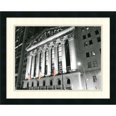 Black & White - Phil Maier New York Stock Exchange at Night Office Art