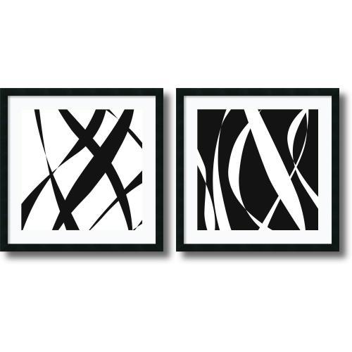 Denise Duplock Fistral Nero Blanco - set of 2 Office Art