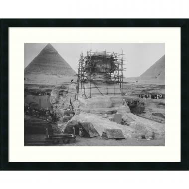 Restoration Work on the Sphinx at Giza, 1925 Office Art