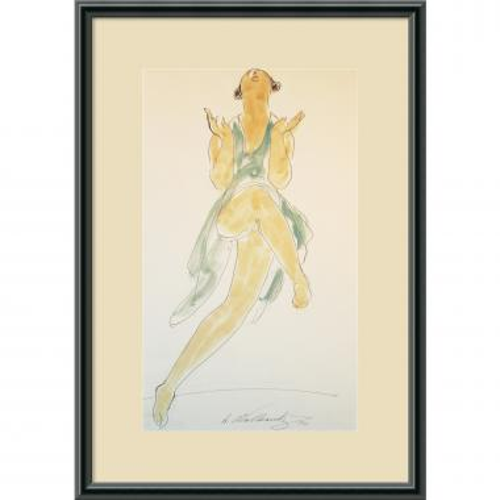 Abraham Walkowitz Isadora Duncan, in Green, Dancing, 1920 Office Art