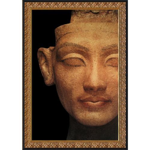 Pharaohs of the Sun: Head of Nefertiti (Hieroglyphics) Office Art