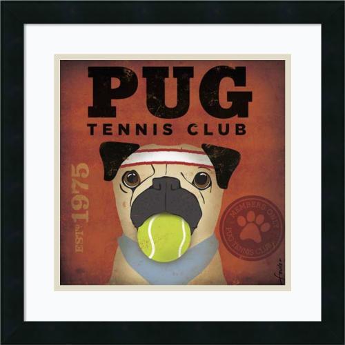 Stephen Fowler Pug Tennis Club Office Art