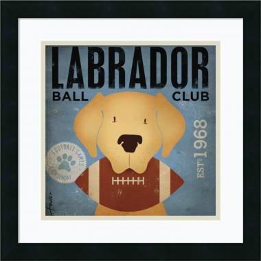 Stephen Fowler Labrador Ball Club Office Art