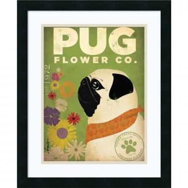 Stephen Fowler Pug Flower Co. Office Art