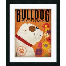 Stephen Fowler - Stephen Fowler Bulldog Blooms Office Art