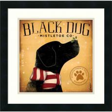 Stephen Fowler - Stephen Fowler Black Dog Mistletoe Office Art