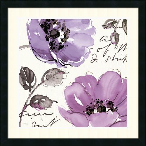Pela Studio Floral Waltz Plum II Office Art