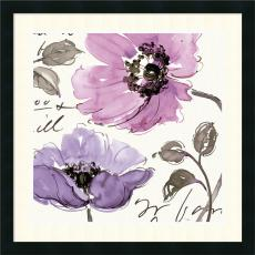 Pela Studio Floral Waltz Plum I Office Art