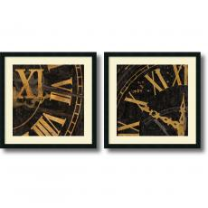 Black & White - Russell Brennan Roman Numerals - Set of 2 Office Art
