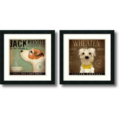 Stephen Fowler Coffee Dogs - set of 2 Office Art