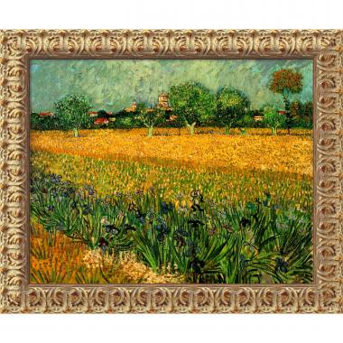 Vincent van Gogh View of Arles with Irises, 1888 Office Art