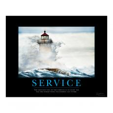 Service Posters - Service Lighthouse Motivational Poster