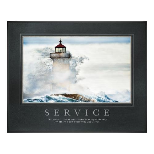 Service Lighthouse Motivational Poster