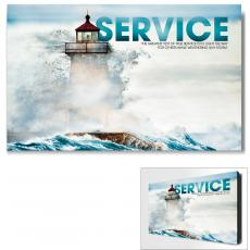 Service - Service Lighthouse Motivational Art