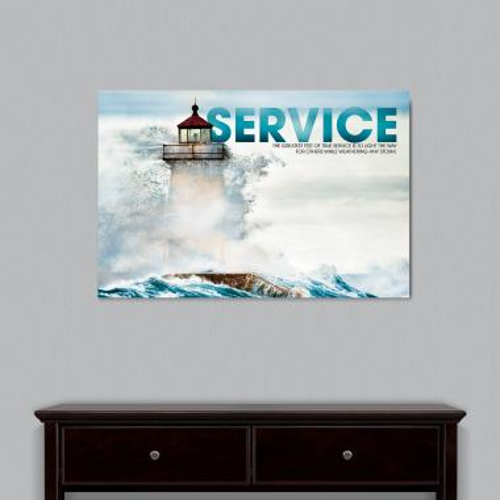 Service Lighthouse Motivational Art
