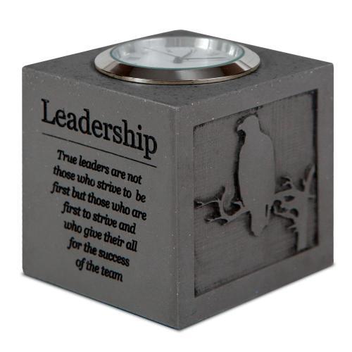 Leadership Cube Desk Clock