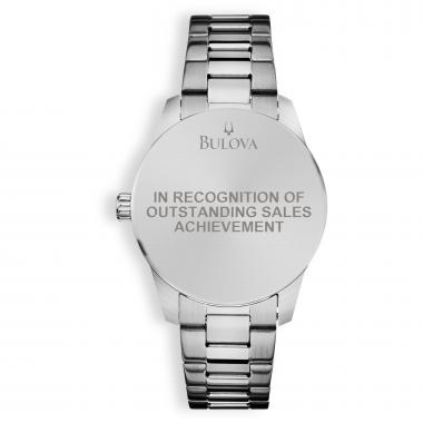 Bulova Round Stainless Steel Custom Watch