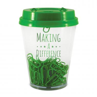 Making A Difference Paper Clip Cup