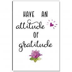 Atittude of Gratitude Lotus Inspirational Art