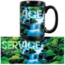 Ceramic Mugs - Service Waterfall 15oz Ceramic Mug