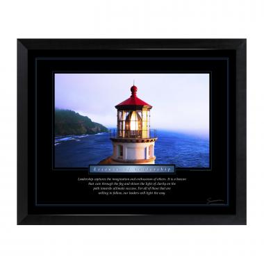Leadership Lighthouse Mini Motivational Poster