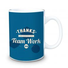 Holiday Themed Gifts - Thanks for Making Our Team Work 15oz Ceramic Mug