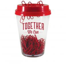 Desktop Motivation - Together We Can Paper Clip Cup