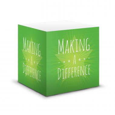 Making a Difference Self-Stick Note Cube