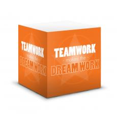 Desktop Motivation - Dream Work Self-Stick Note Cube