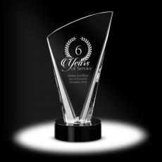 Peaked Gala Crystal Award