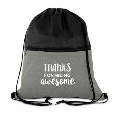 Thanks for Being Awesome Drawstring Backpack