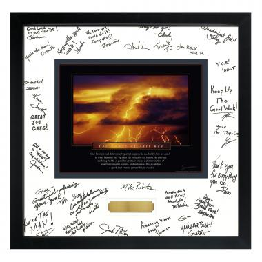 Power of Attitude Framed Signature Motivational Poster