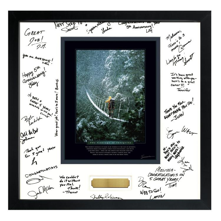 Signature Frames - commemorative team gifts for retirements