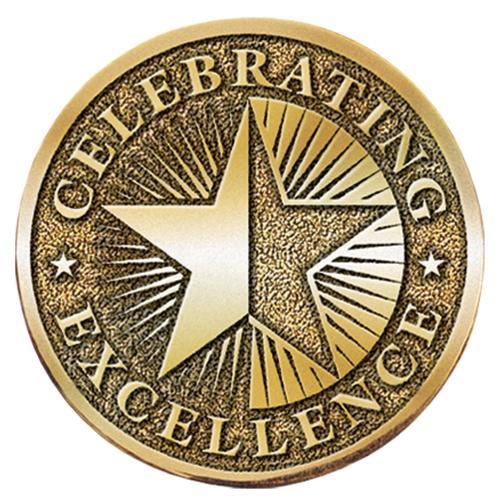 Celebrating Excellence Brass Medallion