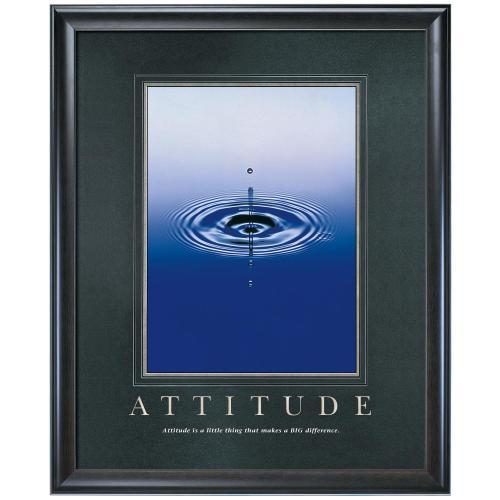 Attitude Drop Motivational Poster