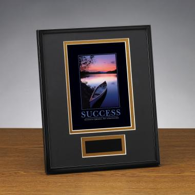 Success Canoe Framed Award