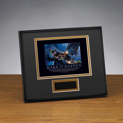 Make It Happen Sailboat Framed Award