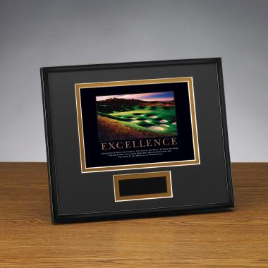 Excellence Golf Framed Award
