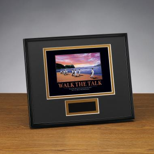 Walk The Talk Framed Award